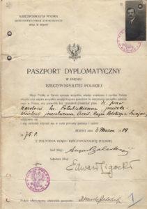 Diplomatenpass von Karol Graf Potulicki