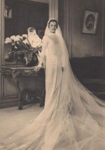 Maria Gräfin Potulicka im Hochzeitskleid
