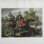 E. Charpentier, P. Pelee, Śmierć ks. Poniatowskiego, ok. 1837