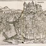 Widok Krakowa, drzeworyt, 1493