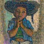 HANNA KALI-WEYNEROWSKA, Meksykański chłopiec, bez daty, olej na płótnie. Kolekcja Muzeum Polskiego w Rapperswilu