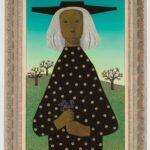 HANNA KALI-WEYNEROWSKA, Dziewczyna z fiołkami (Platerówna II), bez daty, olej na płótnie. Kolekcja Muzeum Polskiego w Rapperswilu