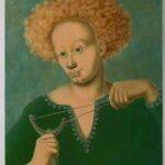 HANNA KALI-WEYNEROWSKA, Młodzieniec z procą, bez daty, olej na desce. Kolekcja Muzeum Polskiego w Rapperswilu