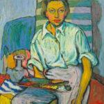 HANNA KALI-WEYNEROWSKA, Autoportret, olej na płótnie, 1947