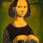HANNA KALI-WEYNEROWSKA, Carmelita, bez daty, olej na desce. Kolekcja Muzeum Polskiego w Rapperswilu