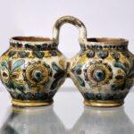 DWOJAK, artysta nieznany, Pokucie:Huculszczyzna, XIX w., ceramika półmajolikowa, 12 x 18 x 9 cm