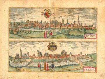 Nissa Silesior sedes Episcopalis / Lignicium, miedzioryt, ok. 1617