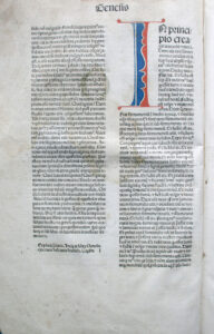 Biblia, Wenecja: Franciscus Renner de Heilbronn & Nicolaus de Francofordia, 1476.