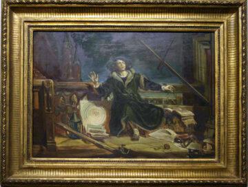 Kopia szkicu Jana Matejki do obrazu Astronom Kopernik, czyli rozmowa z Bogiem z 1873. Kolekcja Muzeum Polskiego w Rapperswilu