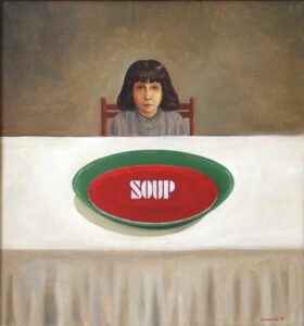 "Magomed Dibirov, ""Soup"", 1998. © Dagestan Museum of Fine Arts named after P. S. Gamzatova"