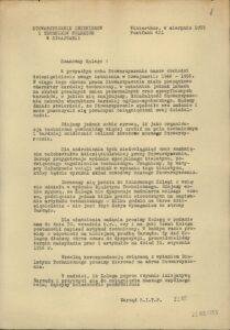 Informacja dot. wydania Biuletynu Technicznego – 1955 r.