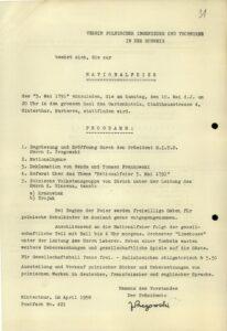 Zaproszenie do udziału w obchodach Święta 3-ego Maja – 1958 r.